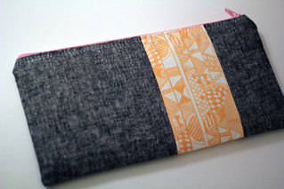Indian Summer zip pouch | by frommartawithlove