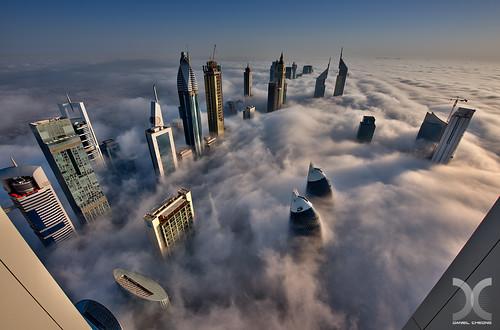 fog clouds sunrise nikon dubai uae vertigo d800 nikkor1424mmf28 photoengine oloneo