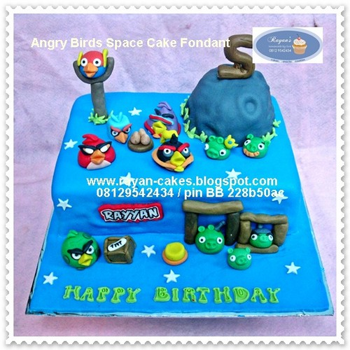 Brilliant Angry Birds Space Cake Fondant Birthday Cake Copy Flickr Funny Birthday Cards Online Inifofree Goldxyz