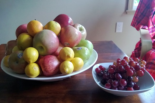 How much fruit does a family of three eat in a week?
