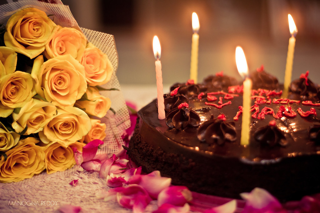 By Manogna Reddy Cake Candles And Flowers