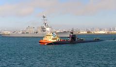 USS San Francisco (SSN 711) transits San Diego Harbor while returning to Naval Base Point Loma, Feb. 9. (U.S. Navy/MC2 Kyle Carlstrom)