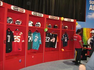 NFL Experience locker room | The Skittles Locker Room at the… | Flickr