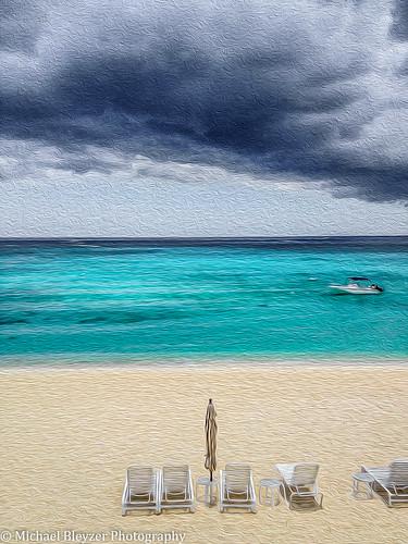 sea beach colors clouds boat cayman caymanislands westbay