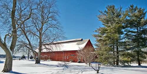 trees winter snow nature barn landscape annapolis redbarn