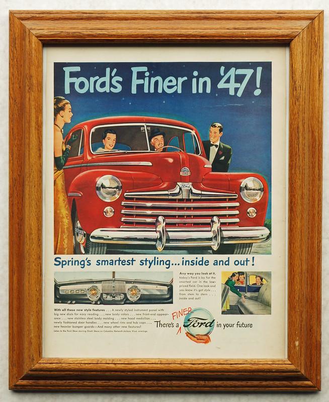 CM061 1947 Ford Car Ad Framed DSC04174