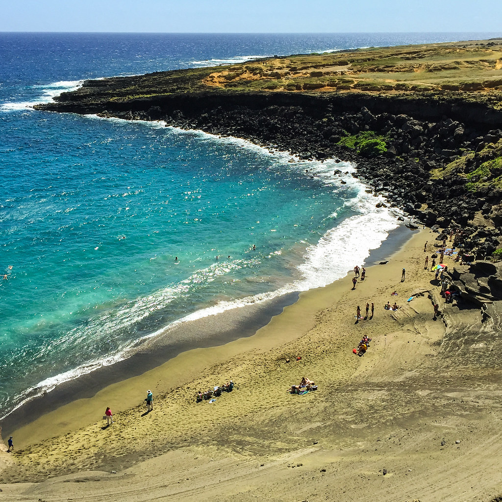 Big Island Beaches: Green Beach, Big Island