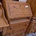 Natural pine writing bureau