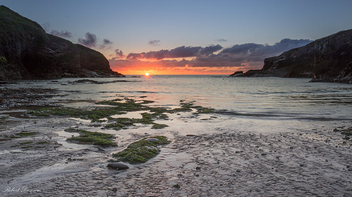 Sunset at Port Gaverne, Cornwall
