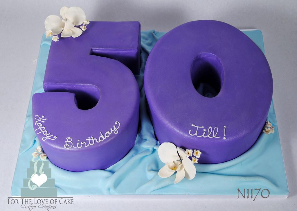 N1170 50th Birthday Cake Toronto Oakville