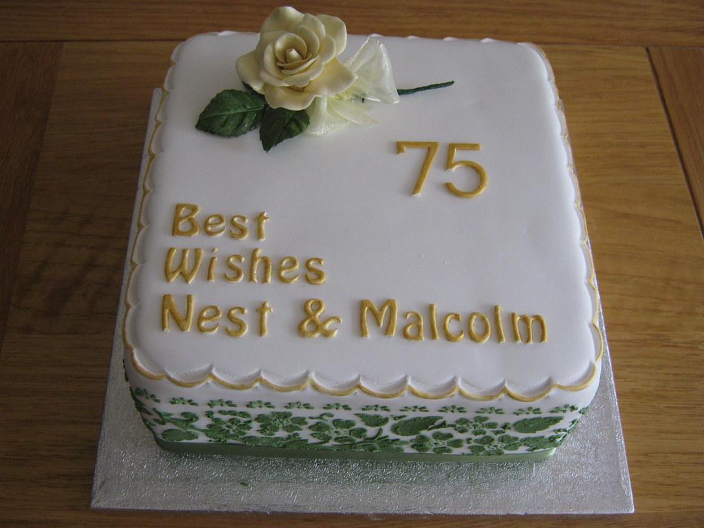 Amazing 75Th Birthday Cake Designed4U Co Uk The Cake Studio Funny Birthday Cards Online Elaedamsfinfo