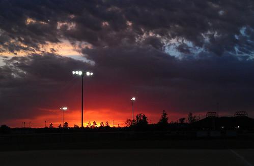 sunset orange beautiful clouds baseball michigan canton fireinthesky 2052 52weeksproject urbansnoop
