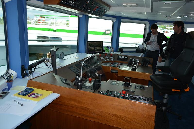 Timonerie - A bord du MS CYRANO DE BERGERAC - Croisieurope - Bordeaux - 16 mai 2013