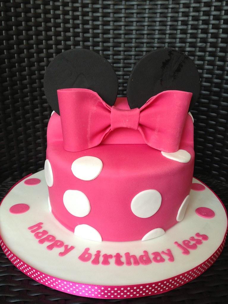Swell Minnie Mouse Birthday Cake Daisy Cake Company Flickr Personalised Birthday Cards Vishlily Jamesorg