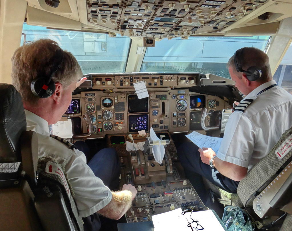 Checklist in Cockpit with Captain and Co-Pilot | Colorado Sands ...