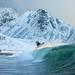 Díky golfskému proudu se v Norsku konají surfařské závody dokonce až za polárním kruhem., foto: archiv autora