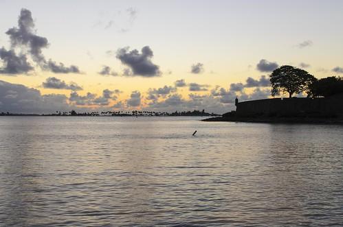 world old light sunset sea color heritage water de puerto evening bay harbor site san colorful long exposure juan natural cloudy unesco rico bahia tropical tropic caribbean tropics