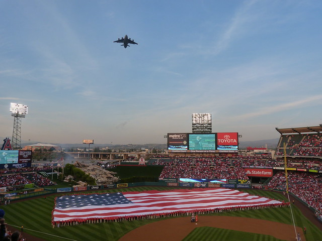 Angels Opening Day Flyover 2012