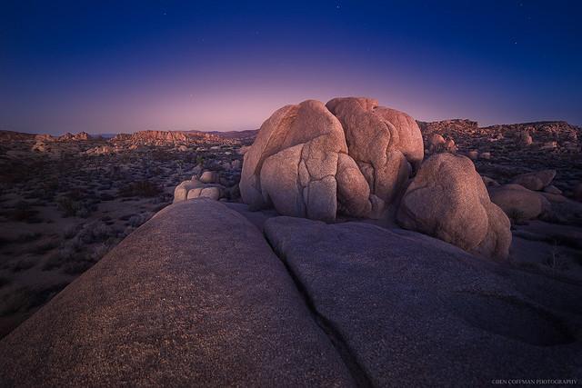 Blushing boulders, Joshua Tree NP