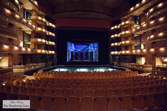 Inside the opera theater section of Millenium Centre