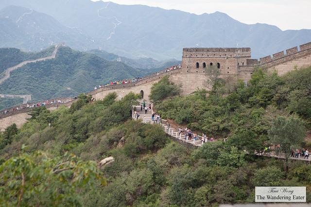 At The Great Wall of China, Badaling section