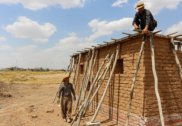Building the wall and roof