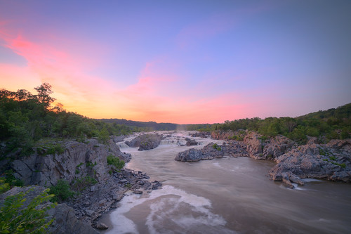 longexposure sunset virginia waterfall greatfalls va potomacriver northernvirginia greatfallspark greatfallsva summersunset