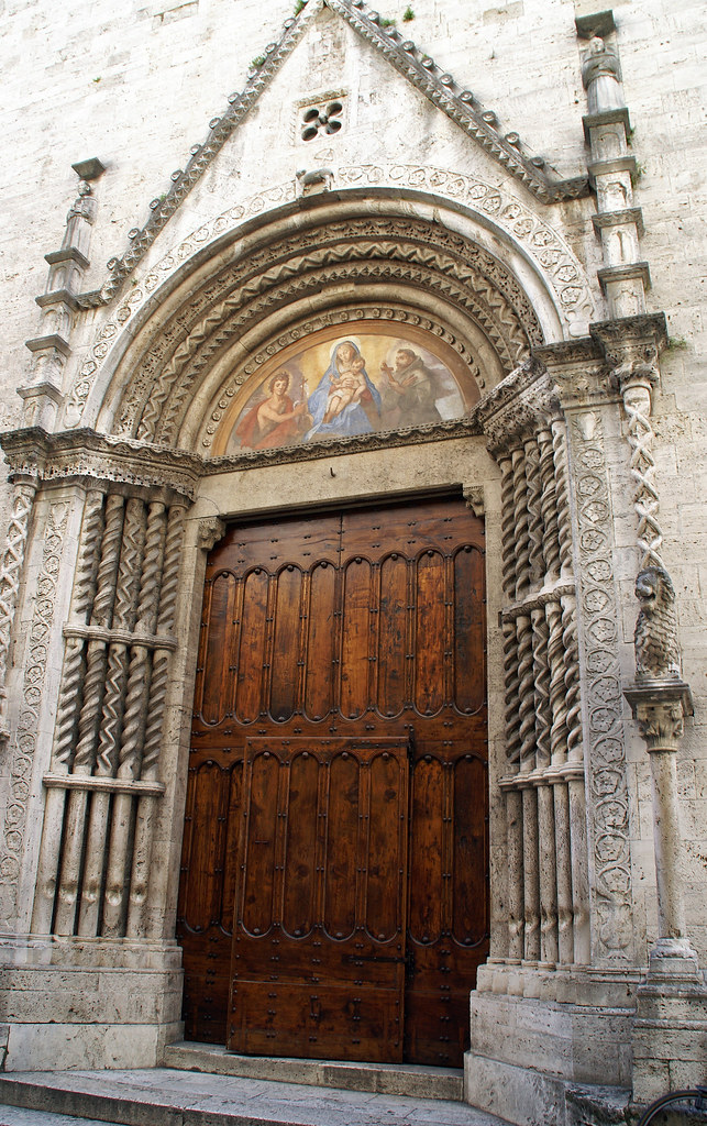 Ascoli Piceno, Chiesa di San Francesco, Hauptportal (main ...