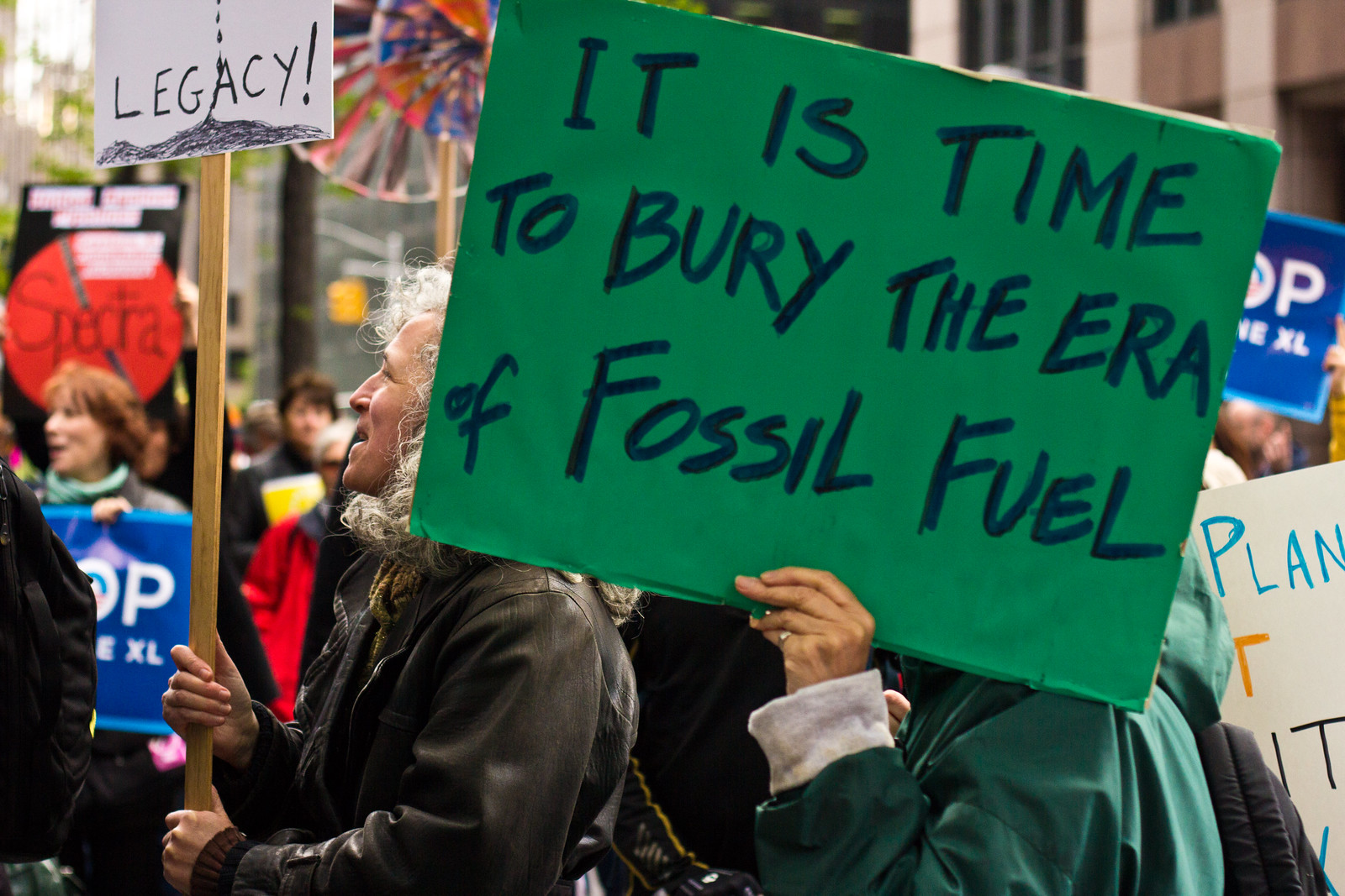 photo of fossil fuel sign