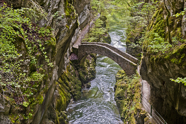 Gorges de l'Areuse . Canton de Neuchatel ,Switzerland.May12, 2013. No. 4838.