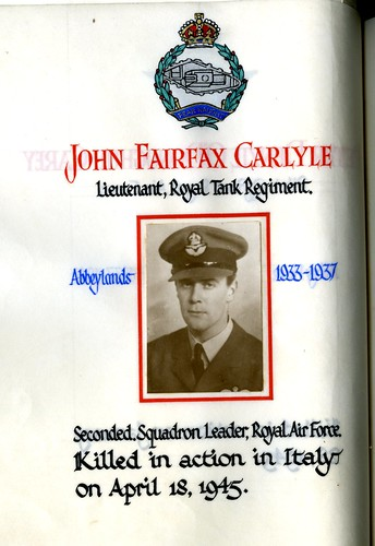 Carlyle, John Fairfax (1919-1945) | by sherborneschoolarchives