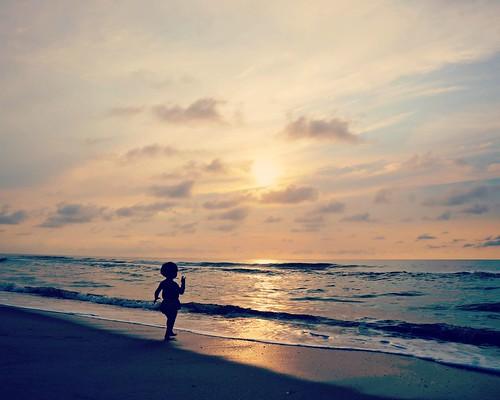 ocean light summer beach water sunrise happy nc sand mood sony memory moment alpha kaia kurebeach nex flipmode79 nex5n picmonkey:app=editor