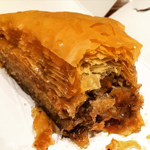 The Greek desert - baklava ! Yum :) #upsticksandgo #foodporn #greekdesert #baklava #athens #greece #travelgram #travelfood #travellingtheworld #michfrost | by UpSticksNGo