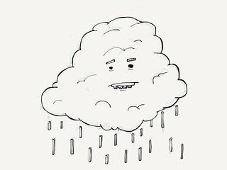 Embarrassed rain cloud. | by Tom Cardo-Moreno