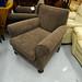 Cappuchino fabric high back armchair