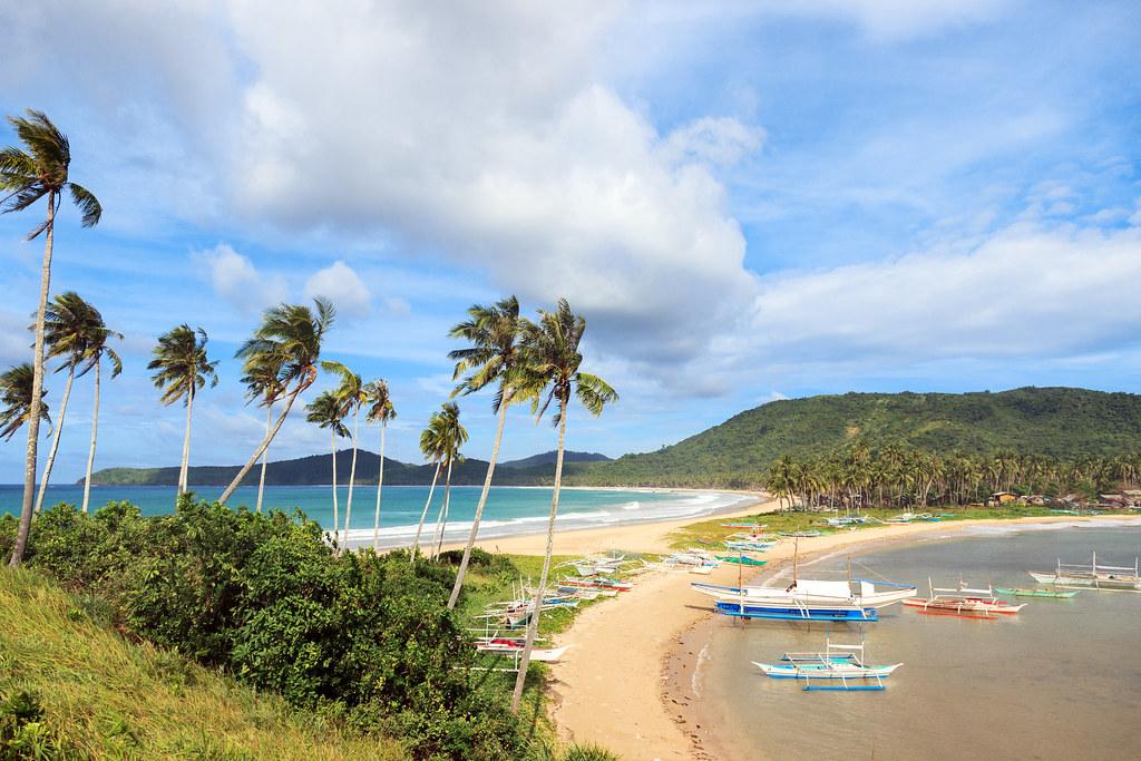 Nacpan Calitang Twin Beach El Nido Palawan Philippines