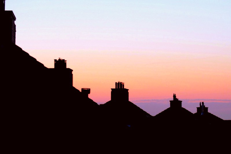 Sundown over the roofs