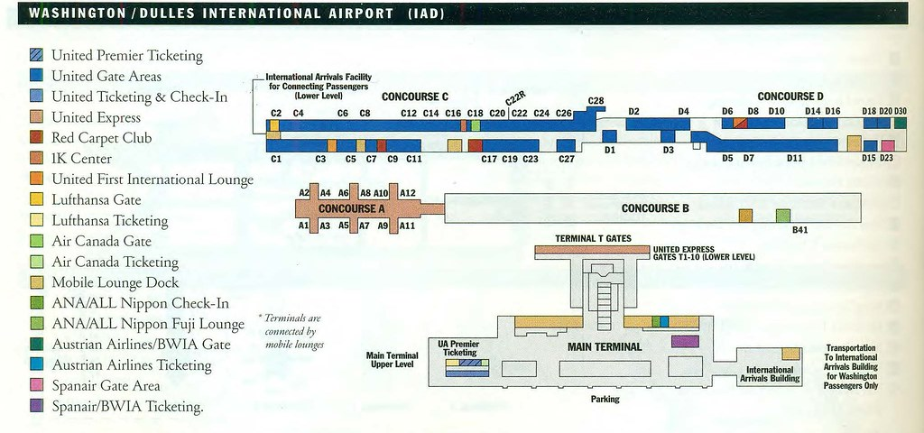 washington dulles airport terminal map United Iad Diagram January 2002 A United Airlines Diagram Flickr washington dulles airport terminal map