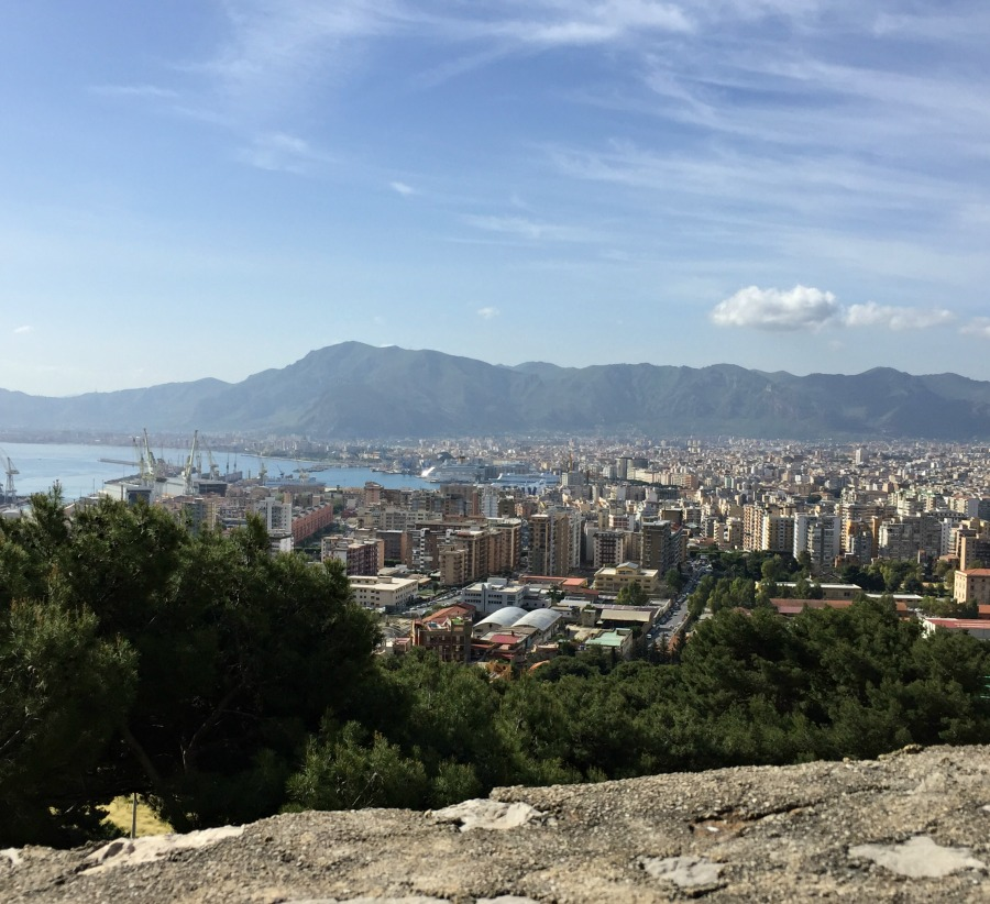 View of Palermo during a hike up Mount Pellegrino
