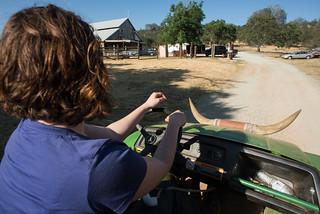Tara Driving the BlackHawk Ranch Gator | by goingslowly