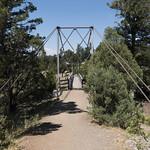 Suspension bridge over Hellroaring Creek