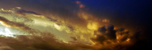052909 - A Nebraska Thunderstorm @ Sunset (Pano)