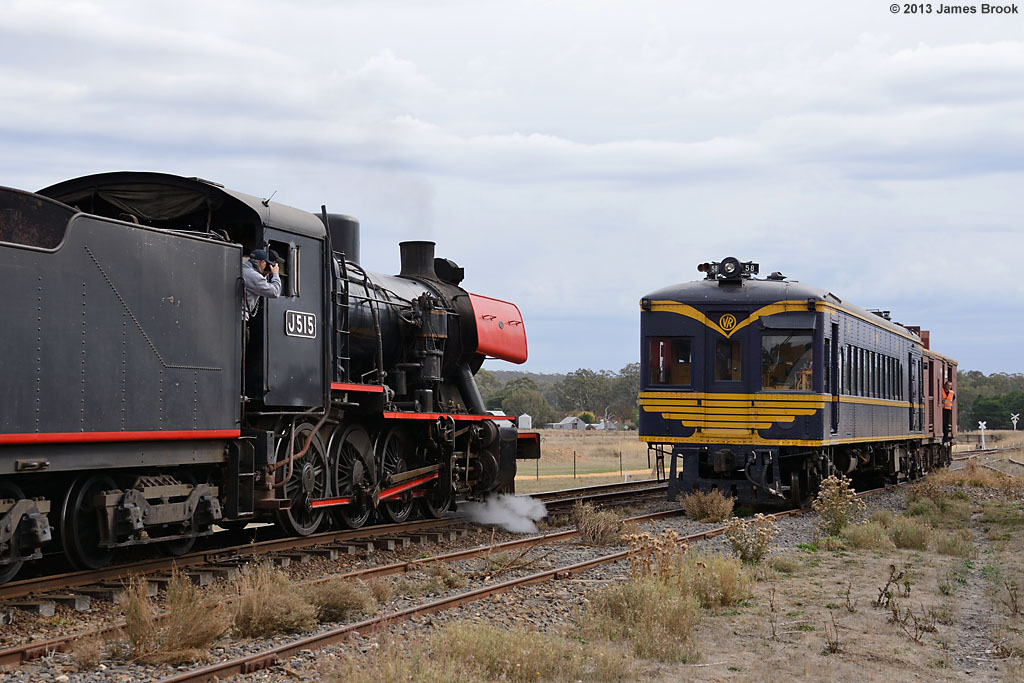 J515 and 58RM at Muckleford by James Brook