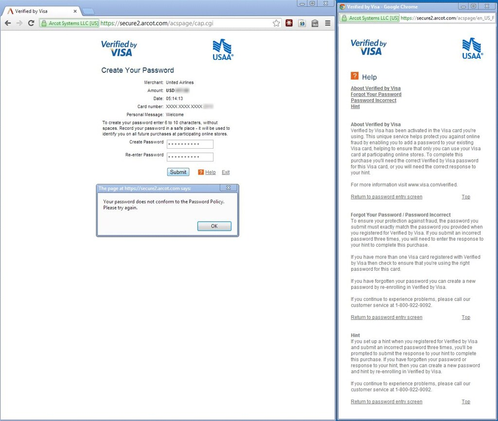 Arcot com Verified by Visa   Appears in www jasonpearce com