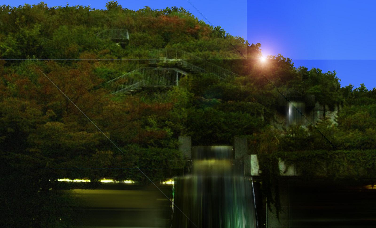 Fukuoka, ministerio con parque piramidal