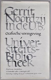 Gerrit Noordzij in de UB 1981