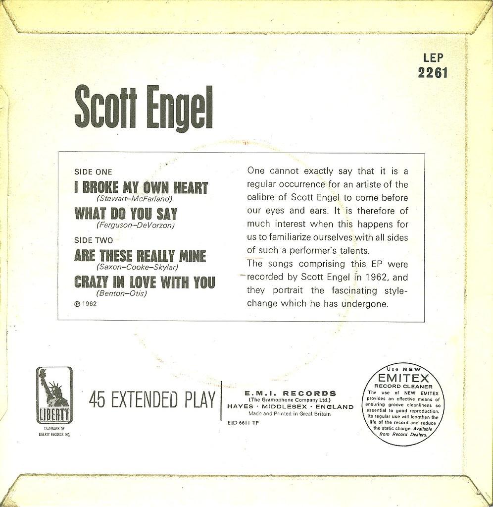 13 - Engel, Scott - I Broke My Own Heart - EP - UK - 1962