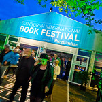 Book Festival entrance at night |