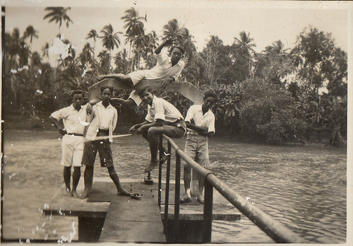 At the Irrigation Works in the river Cisadane at Tangerang in the Dutch East Indies in the thirties