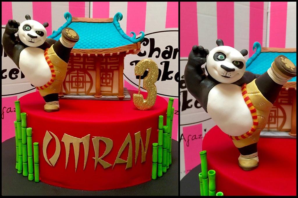 Pleasing Kung Fu Panda Themed Single Tier 3Rd Birthday Cake With 3D Flickr Funny Birthday Cards Online Alyptdamsfinfo